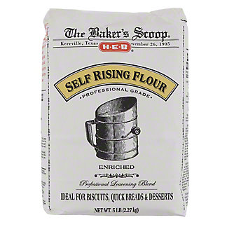H-E-B Baker's Scoop Self Rising Flour,5 LBS