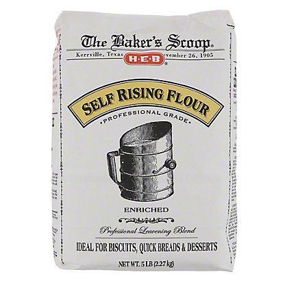 H-E-B Baker's Scoop Self Rising Flour,5 LBS
