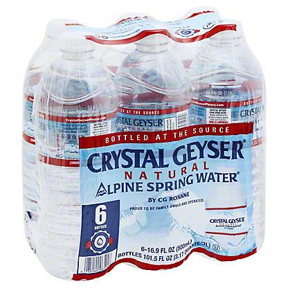 Crystal Geyser Alpine Spring Water 6 pk, 0.5 L
