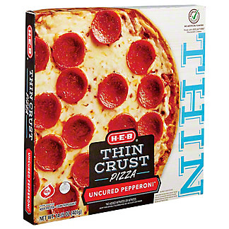 H-E-B Classic Selections Deli Style Extra Thin Crust Pepperoni Pizza,16.00 oz