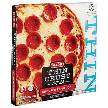 H-E-B Classic Selections Deli Style Extra Thin Crust Pepperoni Pizza,16.00 oz