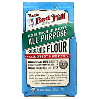Bob's Red Mill White Unbleached Organic Flour, 5 lb