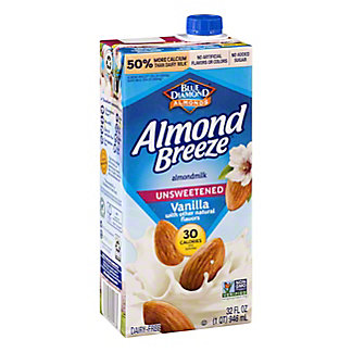 Blue Diamond Almond Breeze Unsweetened Vanilla Non-dairy Beverage, 32 oz