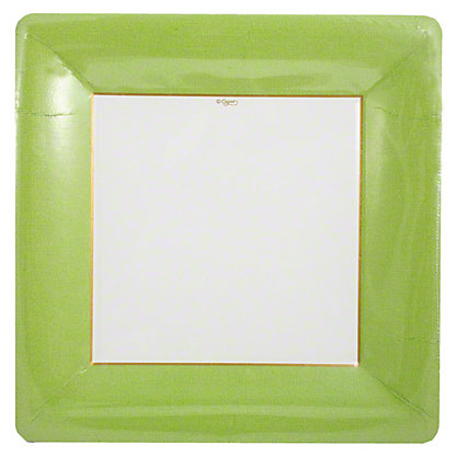 CASPARI Dinner Plates Moss Green, 8 ct