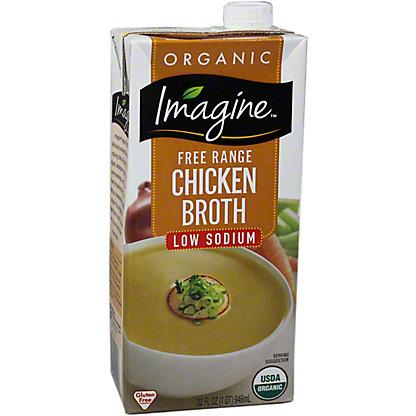 Imagine Natural Creations Organic Low Sodium Chicken Broth, 32.00 oz