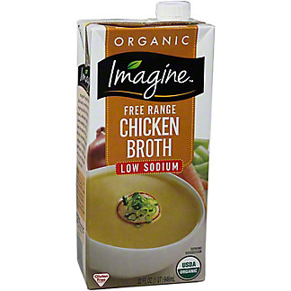 Imagine Natural Creations Organic Low Sodium Chicken Broth, 32.00 oz