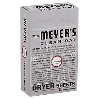 Mrs. Meyer's Clean Day Lavender Scent Dryer Sheets,80 CT