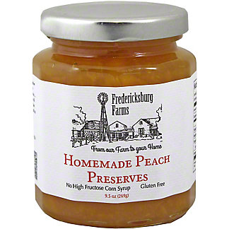 Fredericksburg Farms Homemade Peach Preserves,10 OZ