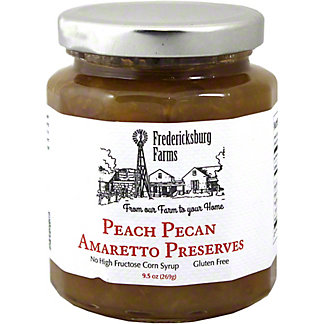 Fredericksburg Farms Peach Pecan Amaretto Preserves, 10 OZ