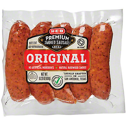 H-E-B Premium Original Smoked Sausage Links,LB