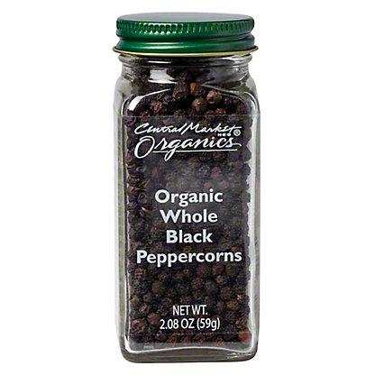 Central Market Organics Whole Black Peppercorns,2.28 OZ