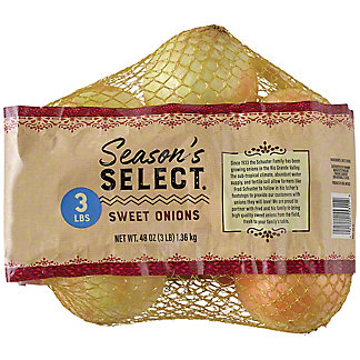 Fresh Sweet Onions, 3 lb Bag