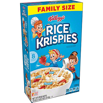 Kellogg's Rice Krispies Cereal, 18 oz