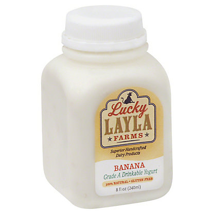 Lucky Layla Farms Drinkable Yogurt - Banana,8.00 oz