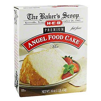 H-E-B Baker's Scoop Premium Angel Food Cake Mix, 16 oz