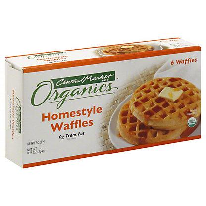 Central Market Organics Homestyle Waffles, 6 ct