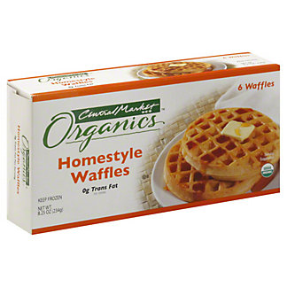 Central Market Organics Homestyle Waffles, 6 ct
