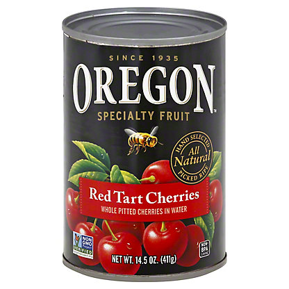 Oregon Specialty Fruit Pitted Red Tart Cherries In Water,14.5 OZ