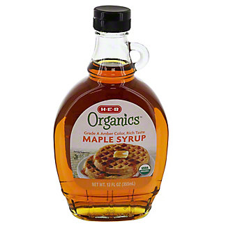 H-E-B Organics Grade A Medium Amber Maple Syrup, 12 oz