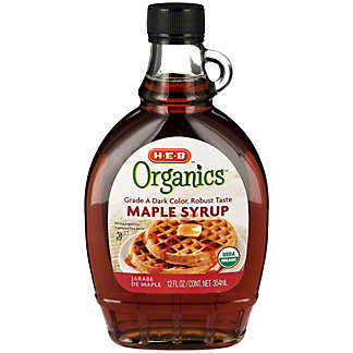 H-E-B Organics Dark Amber Maple Syrup, 12 oz