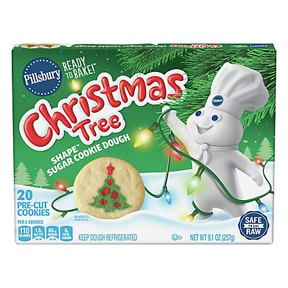 Pillsbury Ready To Bake Christmas Tree Shape Sugar Cookie 24 Ct