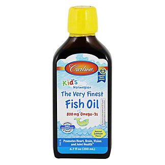 Carlson Very Finest Omega 3 Fish Oil Liquid Lemon For Kids, 6.7 oz