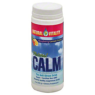 Peter Gillham's Natural Vitality Natural Calm Magnesium Supplement Organic Raspberry-Lemon Flavor, 8 oz
