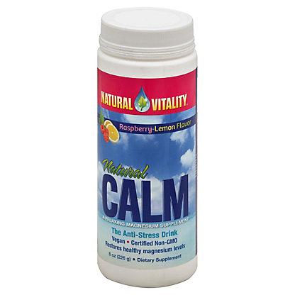 Peter Gillham's Natural Vitality Natural Calm Magnesium Supplement Organic Raspberry-Lemon Flavor, 8 oz