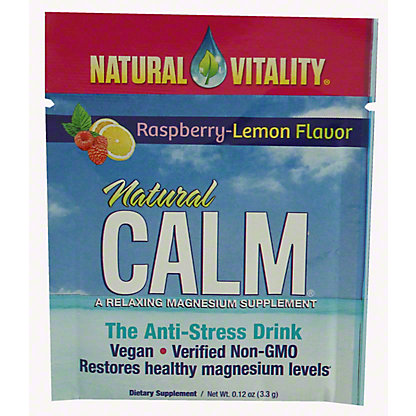 Natural Vitality Natural Calm Rasberry-Lemon Flavor Packet,30 ct