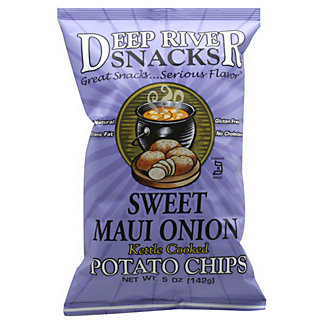 Deep River Snacks Kettle Cooked Sweet Maui Onion Potato Chips,5  OZ