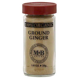 Morton & Bassett Organic Ground Ginger,1.80 oz