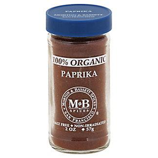 Morton & Bassett 100% Organic Paprika,2.00 oz