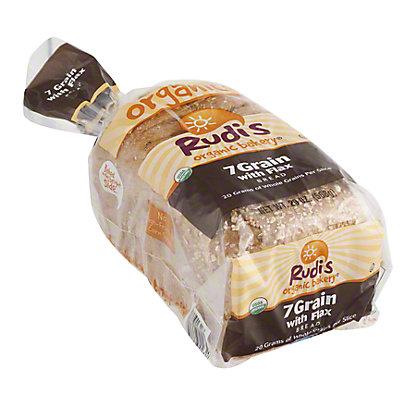 Rudi's Organic Bakery 7 Grain With Flax Bread, 20 OZ