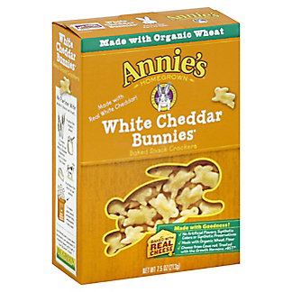 Annie's Homegrown White Cheddar Bunnies Crackers,7.50 oz
