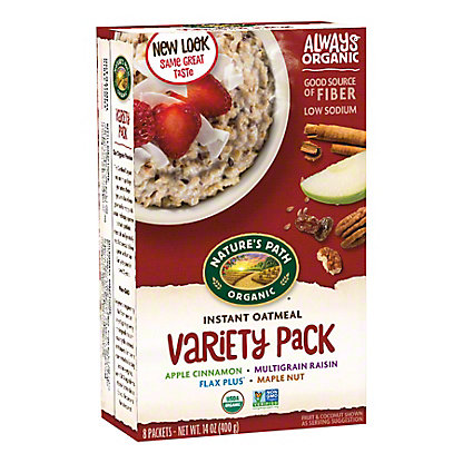 Nature's Path Organic Variety Pack Instant Hot Oatmeal, 8.00 ea