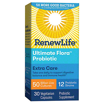 Ultimate Flora Critical Care Extra Strength Probiotic Vegetable Capsules, 30 ct