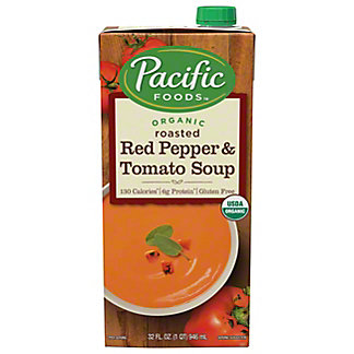 Pacific Foods Organic Roasted Red Pepper & Tomato Soup,32.00 oz