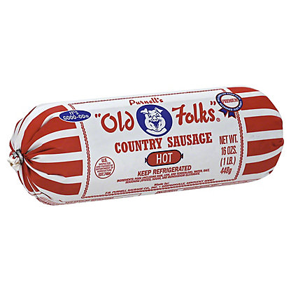 "Purnell's ""Old Folks"" Country Hot Sausage,16 OZ"