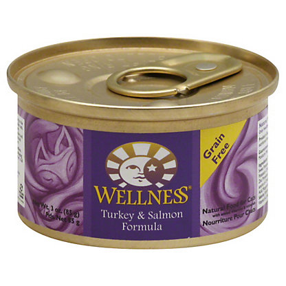 Wellness Turkey & Salmon Formula Cat Food,3 OZ