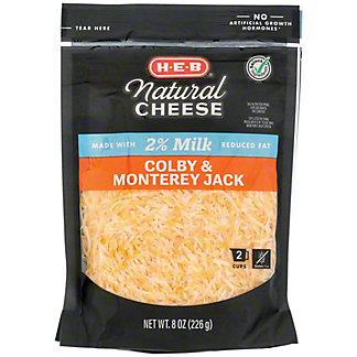 H-E-B 2% Milk Colby Jack Fancy Shredded Cheese,8 OZ