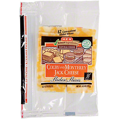 H-E-B Colby Jack Slider Slices, 12 ct