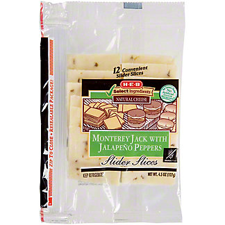 H-E-B Jalapeno Jack Slider Slices, 12 ct