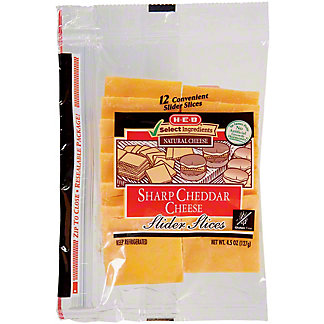H-E-B Sharp Cheddar Slider Slices,12 CT