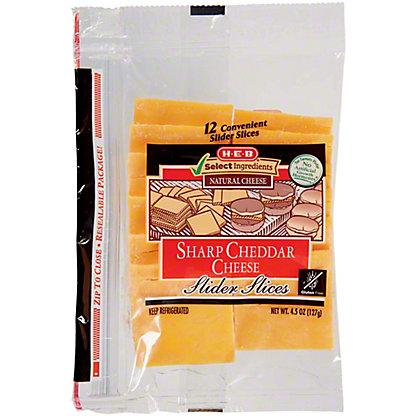 H-E-B Sharp Cheddar Slider Slices,12 CT