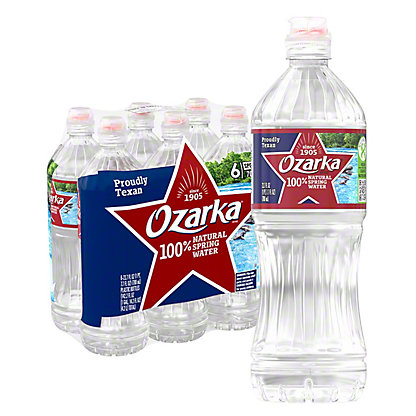Ozarka 100% Natural Spring Sport Water 6 PK,23.7 OZ