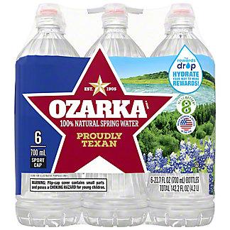 Ozarka 100% Natural Spring Sport Water 6 PK,23.7 OZ