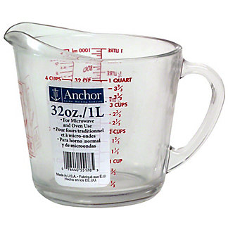 Anchor Anchor Hocking Measuring Cup Glass 4 Cup,1.00 ea