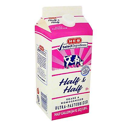 H-E-B Half & Half, 64 oz