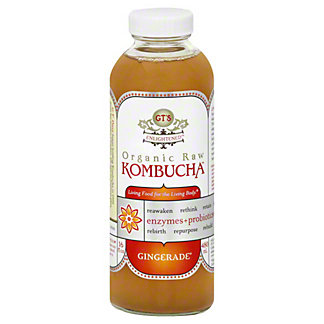 GT's Enlightened Organic Raw Gingerade Kombucha, 16.2 oz