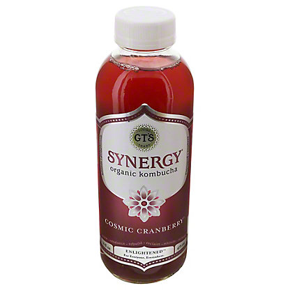 GT's Enlightened Synergy  Organic and Raw Cosmic Cranberry Kombucha, 16.2 oz